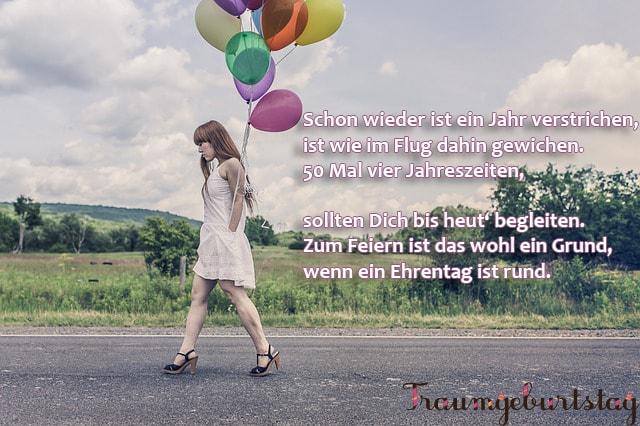 Lll Gedichte Zum 50 Geburtstag Lustige Verse Für Frauen