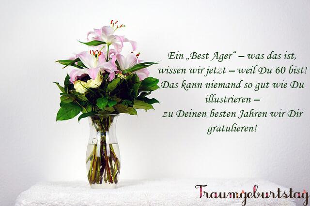 Lll Spruche Zum 60 Geburtstag Schone Kurze Wunsche Fur