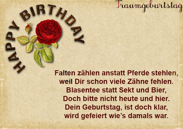 Lll Tolle Geburtstagsgedichte Die Schonsten Verse Fur Erwachsene
