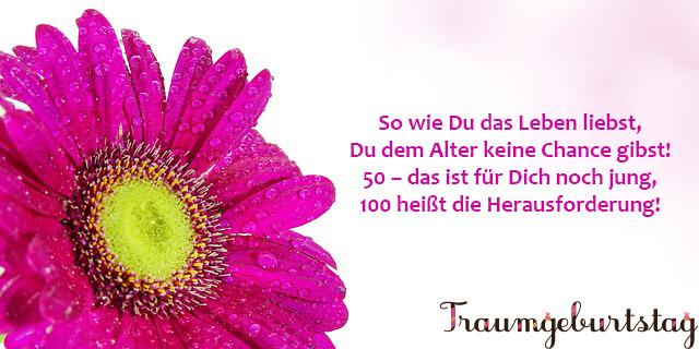 Geburtstagssprüche zum 50.