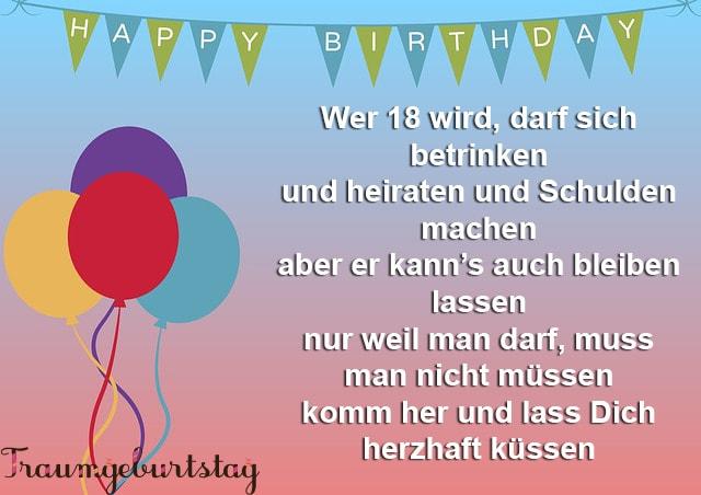 Lll Sprüche Zum 18 Geburtstag Die Besten Zur Volljährigkeit