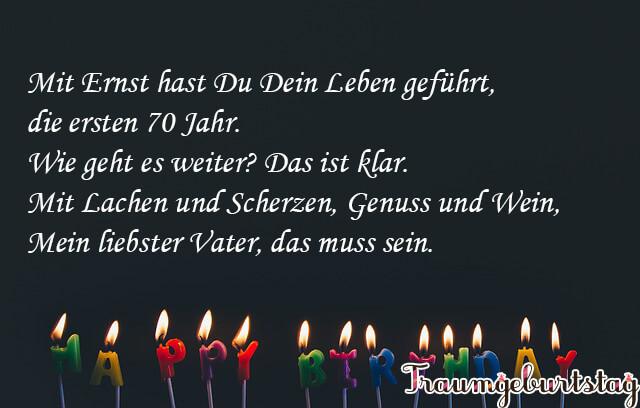 Lll Spruche Zum 70 Geburtstag Witzig Kurz Und Schon Fur